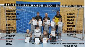 Neuer Hallenstadtmeister 2018 bei der F Jugend